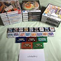Nintendo 3DS Gameboy GBA Pokemon Game Complete Collection Bundle Lot USA Seller