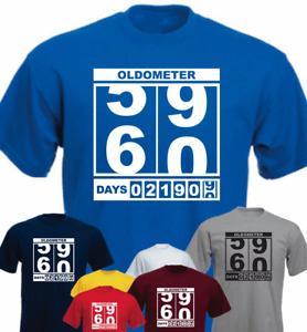 Oldometer 60th Birthday New Funny Birthday T-shirt Present Gift