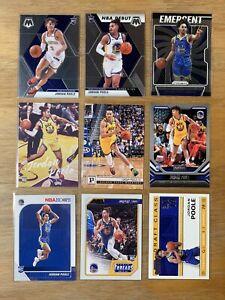 Jordan Poole 9 Card Rookie Lot RC Warriors NBA Panini