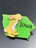 2002 Disney Pin 3D State Character Pin Iowa Rabbit Winnie the Pooh VERY RARE