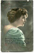 CPA - Carte Postale - Fantaisie - Anniversaire - Femme - Fleurs - 1919 (M7852)