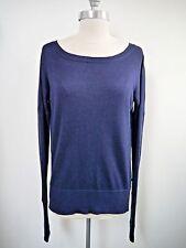 LULULEMON Yin Me indigo blue cashmere blend reversible sweater size 6 WORN ONCE