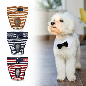 Dog Physiological Pants Striped Adjustable Cotton Pet Costumes Supply Outdoor