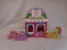 My Little Pony 2003 Cotton Candy Cafe Playset + Ponies Pony's MLP