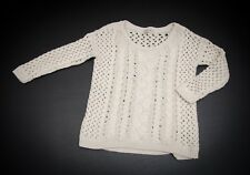 GORGEOUS ladies 'RIVER ISLAND' CHUNKY KNIT JUMPER Size 6 (NATURAL-IVORY)