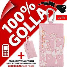 Nuevo Golla Rosa teléfono móvil Funda Bolsa Para Nokia 6303 6700 5280 C5 C3-01 C2-01