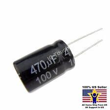 10pcs 470uF 100V 16x25mm Radial Electrolytic Capacitors US Seller CAP0074-10