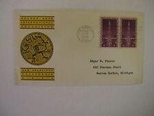 1939 #852 - Golden Gate Exposition 3 Cents - FDC - Linprint Cachet - 2 stamps