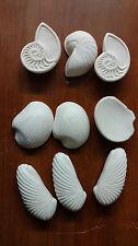 9 Assorted White Tropical Sea Shells Decorative Soaps