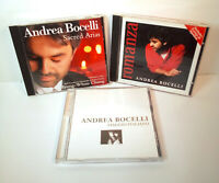 Andrea Bocelli Lot of 3 CDs - Sacred Arias, Viagio Italiano, and Romanza - VG