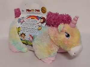 "New Pillow Pets Classic Buddies 16"" Unicorn Plush Snuggly Original & Authentic"