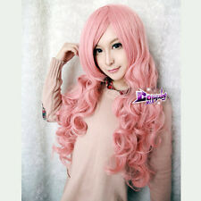 VOCALOID Megurine Luka 36'' Pink Long Curly Cosplay Wig Heat Resistant