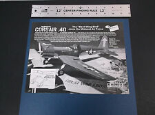 VINTAGE MIDWEST PRODUCTS CORSAIR .40 R/C MODEL AIRCRAFT BROCHURE *G-COND*