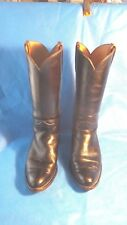 Frye Classic Vintage Black Tall Cowboy Boots Mens Size 9 D MADE IN THE USA
