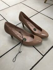Ladies Womens Shoes Wide 6 M&s Nude Round Toe Stilletto