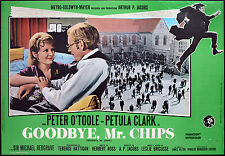 CINEMA-fotobusta GOODBYE MR. CHIPS p. o'toole, p. clark