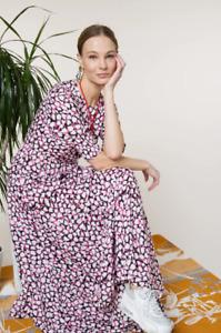 BNWT Rixo Kristen Psychedelic Tulip Maxi Dress Size XL UK 16