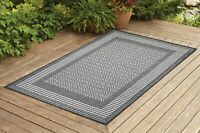 Contemporary Indoor / Outdoor Sisal Area Rug for Garage, Garden Kitchen | Gray