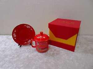 China Red Porzellan Set mit OVP - NOS 2010 -10 th Anniversary Celebration Xtemp
