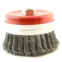 100mm Rotary Wire Knot Twist Industrial Cup Wheel Brush for Angle Grinder M14