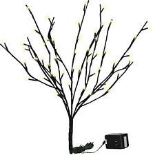 PBK Floral Decor Stem - Lighted Twig Branch Black Glitter