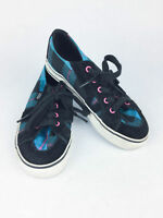 Youth / Kids Vans Tory Skate Shoes Size 12.5 - Blue, Black and Pink Plaid