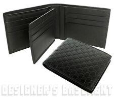 GUCCI Mens black MICRO GUCCISSIMA removable ID Window INSERT wallet NIB Authentc