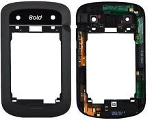 Original boîtier milieu châssis noir pour blackberry bold 9900 9930