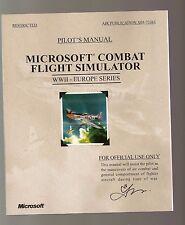 MICROSOFT COMBAT FLIGHT SIMULATOR PILOT'S MANUAL WW11 EUROPE SERIES