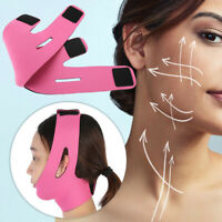 Facial Thin Face Slimming Bandage Mask Belt Shape V Lift Reduce Double Chin US**