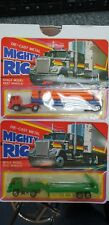 Mighty Rig - 2 x Diecast cast 1:64 scale lorries (Pipe & Flat Bed) - Both Mint i