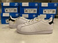 Adidas Superstar Stan Smith 1 White Leather Toddler Shoes/Sneaker White/Black