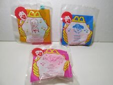 McDonald's Set Of 3 Character Toy Sound Maker Happy Meal Toy 1996  t4781