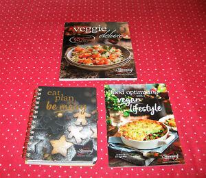 New Slimming World Eat, Plan & be Merry Christmas Journal+Veggie Delux Cookbook