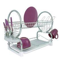 Premier Housewares 2-Tier Dish Drainer - White
