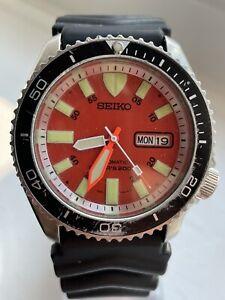 Seico Diver Orange Dial Automatic Watch 7S26-0020