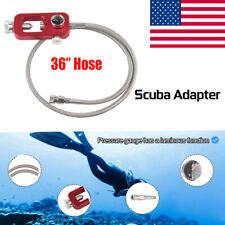 36 Inch Hpa Tank Fill Station Pressure Adapter Scuba Hose Whip 90cm Stainless Us