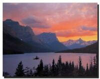 Wall Decor Glacier National Park St. Mary Lake Landscape Scenery Art Print 16x20
