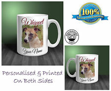 Whippet Personalised Ceramic Mug: Perfect Gift. (D293)