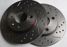 Fits Fiat Abarth E Turbo Drilled Slotted Rotors Made From Brembo Blank Rear
