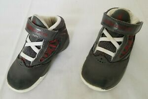 Infant Size 6C Grey Nike Air Jordan Flight The Power TD Casual Shoes 487210-004