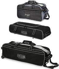Storm 3 Ball Tote Bowling Bag With Shoe Pocket & Companion 2 Ball Tote Grey