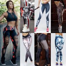 Mujer medias de YOGA ejercicio correr Fitness Deporte Pantalones Deportivo Ropa