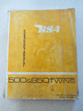 BSA motorcycle workshop manual for 1966 - 1968 500 & 650 cc unit twins