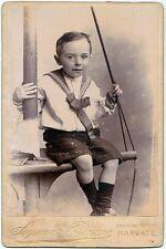 Cabinet Margate UK Portrait of a little sailor Photo Seymour Bronne 1890c S645