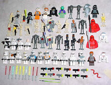 LEGO Star Wars Trooper Pilot Minifig Minifigure Lot 50 + Preowned Weapons Droid