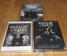 HOUSE OF CARDS season 1 2 3 dvd NEW & FACTORY SEALED HBO