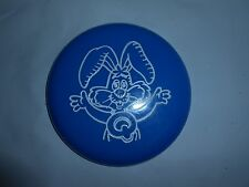 "ULTRA RARE VTG NESTLE QUIK BUNNY RABBIT BLUE PLASTIC 4.25"" FLYING DISC PROMO"