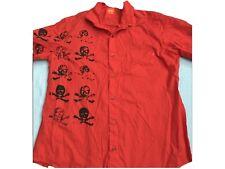 Hugo Boss Hemd Skull Rot Gr. L