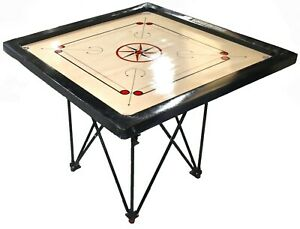 Carrom Board and Stand in ALUMINIUM - Foldable with Adjustable Levellers